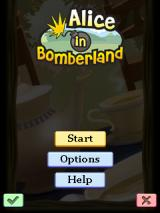 Alice in Bomberland J2ME Main menu