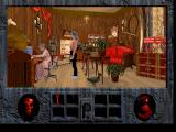 Roberta Williams' Phantasmagoria DOS One of the shops in the town. The graphics are very detailed indeed