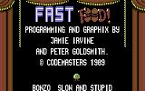 Fast Food Commodore 64 Title screen