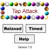 Tap Attack Palm OS Main menu
