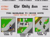 Paperboy Genesis Select a difficulty level. Hard levels have more obstacles and need more deliveries.