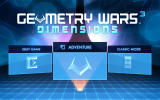Geometry Wars 3: Dimensions - Evolved Windows Main menu