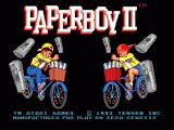 Paperboy 2 Genesis Title screen