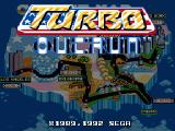 Turbo Out Run Genesis Title screen