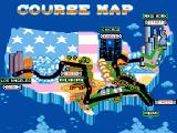 Turbo Out Run Genesis Course map