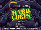 Contra Hard Corps Genesis Title screen