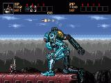 Contra Hard Corps Genesis This boss just leaped on top of the train: remarkable animations.