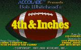 4th & Inches Amiga Title screen