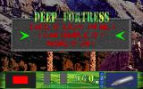 Deep Fortress DOS Difficulty selection.