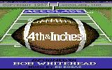4th & Inches Commodore 64 Title screen