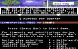 4th & Inches Commodore 64 Setting game options