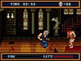 Splatterhouse 3 Genesis The backdrops have much more detail than the previous game.