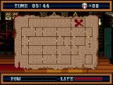 Splatterhouse 3 Genesis The overview map to move between rooms