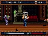 Splatterhouse 3 Genesis Throw the bricks to cause some serious damage
