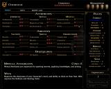 Vampire: The Masquerade - Bloodlines Windows A full sheet of abilities, with the option of allocating an experience point to raise an attribute