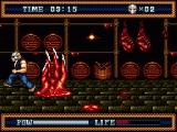 Splatterhouse 3 Genesis Long rooms provide shortcuts, but they're hard to cross without losing health.