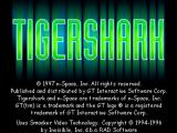 Tigershark Windows Static title screen with credits