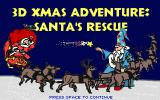 3D Xmas Adventure: Santa's Rescue DOS Title screen.