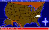 All About America Amiga Present map - state capital question