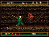 Splatterhouse 2 Genesis Smash the demons against the wall with your baseball bat