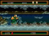 Splatterhouse 2 Genesis In level 4, you have to keep moving at a high speed or you get caught by the octopus.