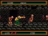 Splatterhouse 2 Genesis Zombies in the dungeon