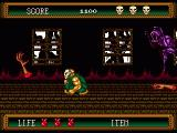 Splatterhouse 2 Genesis The flying hands are unpredictable