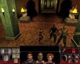 Vampire: The Masquerade - Redemption Windows Christof quickly makes some new friends in modern-day London. The party poses in an Egyptian-style dungeon