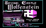 Beyond Castle Wolfenstein PC Booter Title Screen -- Backward swastika?