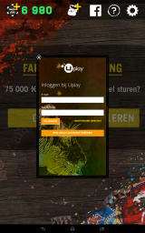 Far Cry 4: Arcade Poker Android Uplay login screen (Dutch version)