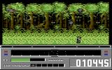 Revenge of Defender Commodore 64 Gameplay on the forest level