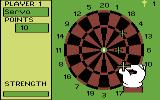Bullseye Commodore 64 Throwing darts in round 2