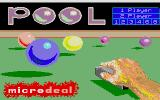 Electronic Pool Atari ST Title Screen