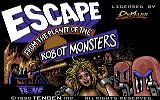 Escape from the Planet of the Robot Monsters Commodore 64 Loading screen (tape version)