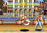 Fatal Fury Special SEGA CD Andy Bogard kicking Terry Bogard