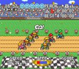 Excitebike: BunBun Mario Battle Stadium SNES Start of the race in Episode 3, notice the slightly different HUD compared to the first two episodes