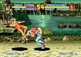 Fatal Fury Special SEGA CD Terry Bogard  hitting Joe Higashi