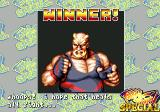 Fatal Fury Special SEGA CD Winner Screen for Big Bear: Whoops! I hope that heals all right...