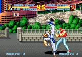 Fatal Fury Special SEGA CD Terry Bogard blocking Kim Kaphwan