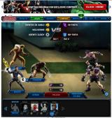 Marvel: Avengers Alliance Browser Combat screen.