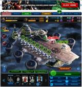Marvel: Avengers Alliance Browser Hangar screen, the main menu where you choose where to go. At the moment of the screenshot there was a special operation and a daily mission.