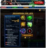 Marvel: Avengers Alliance Browser Boss reward table with the description of one weapon for the agent.