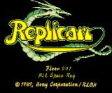 Replicart MSX Title screen
