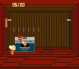 Splatterhouse: Wanpaku Graffiti NES Slashing headless roasted chicken, out of the oven; only in Splatterhouse :)