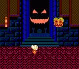 Splatterhouse: Wanpaku Graffiti NES The final boss: the pumpkin king himself.