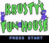 Krusty's Fun House NES Title screen