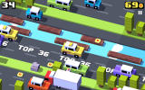 Crossy Road Android The game shows when you approach your top score.