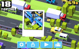Crossy Road Android A photograph of the character's death.