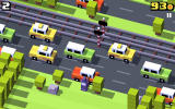 Crossy Road Android Playing as a wizard.