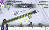 SimCity: BuildIt Android The range of the electrical grid of a wind power central is shown (Dutch version).